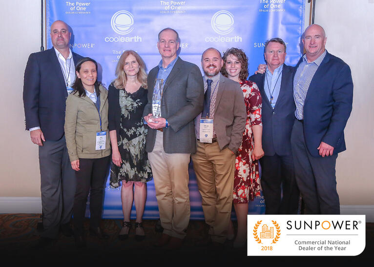 "Cool Earth Solar Honored with SunPower 2018 ""Commercial National Dealer of the Year"" Award"