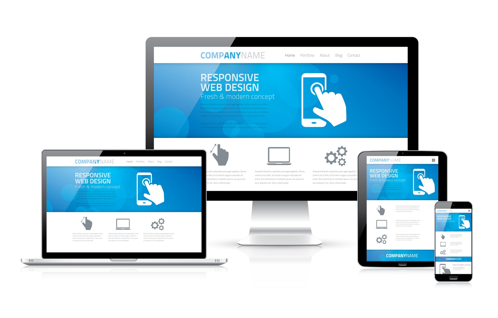 Creating a clean website design for Design sito