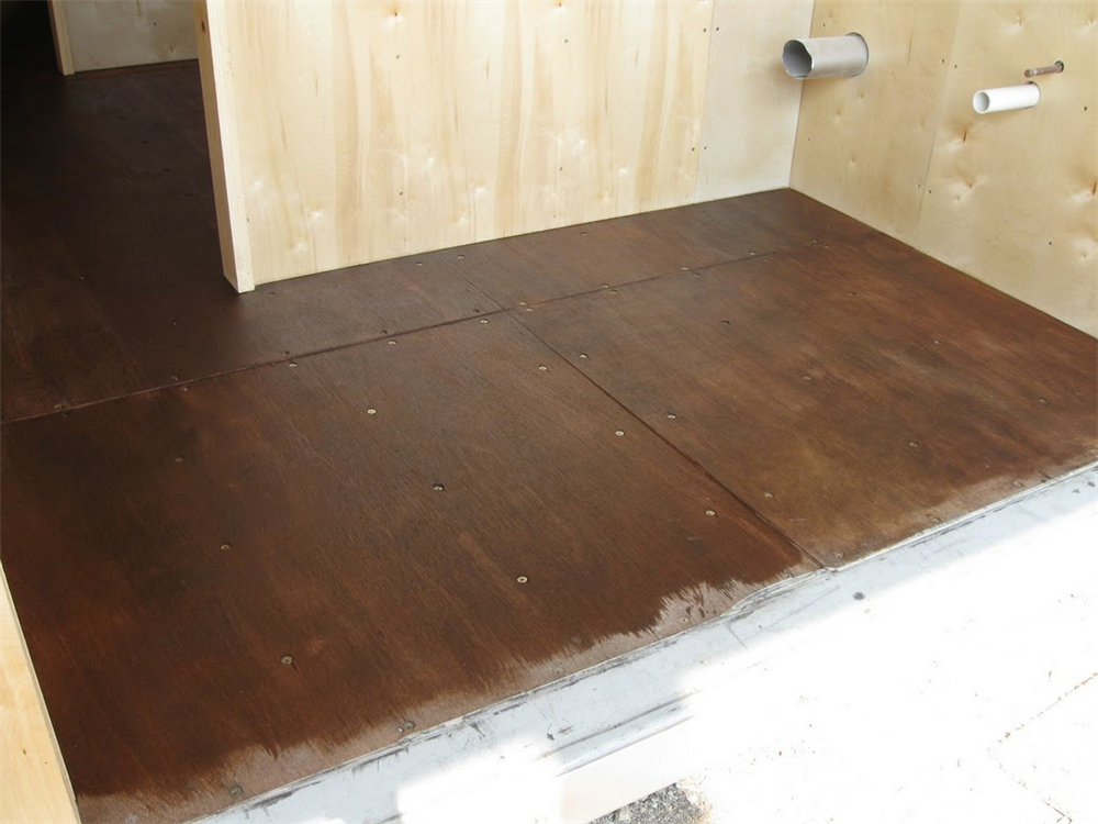 Finished Floor in Rickerts Cabin