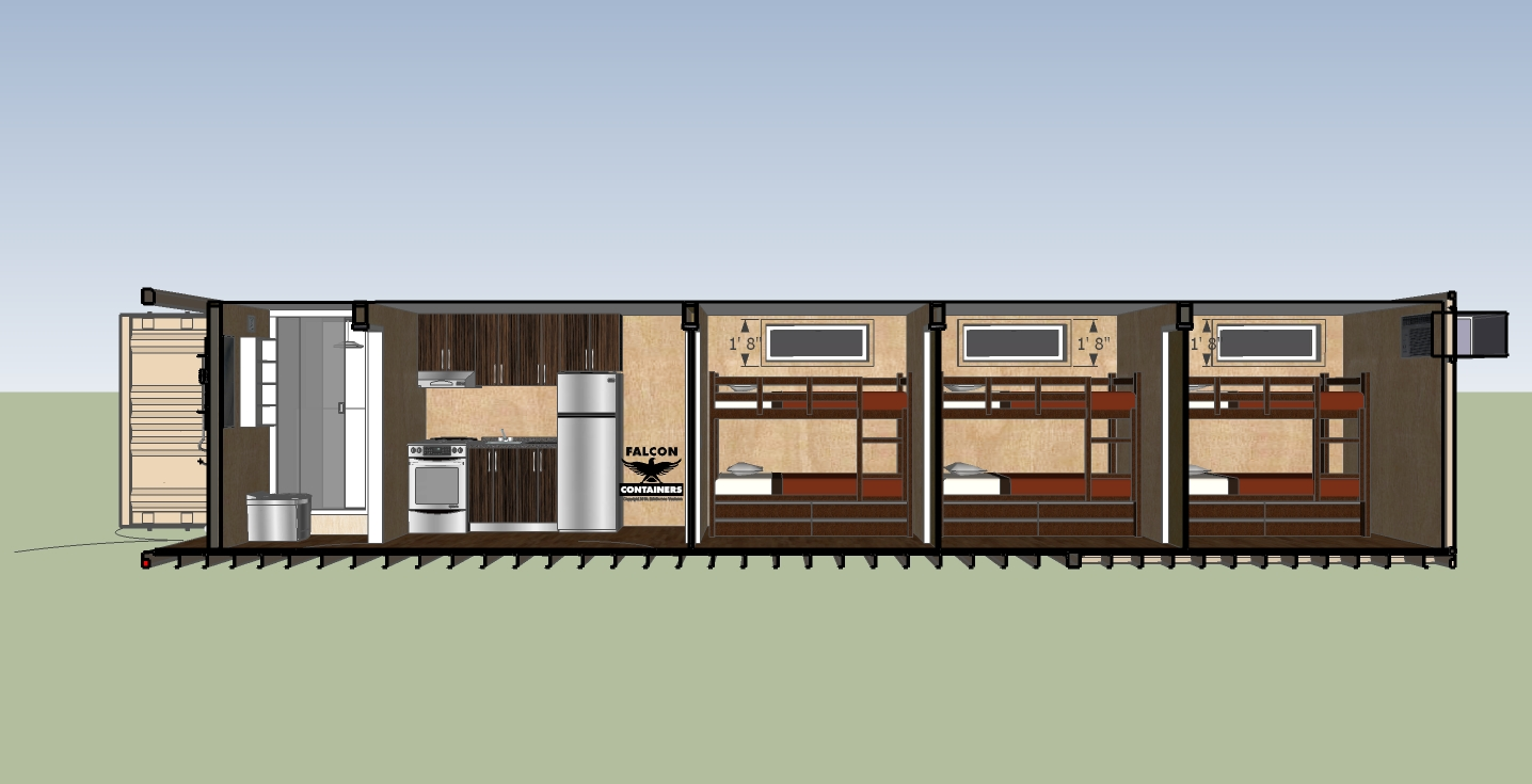 40 Ft Container House Floor Plans
