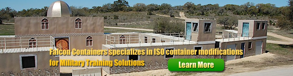 ISO container modifications for Military Training Solutions