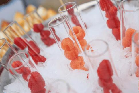 Test tube raspberries