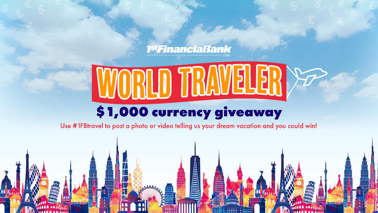 1FBUSA's World Traveler $1,000 Currency Giveaway