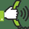 Telefon Symbol grün