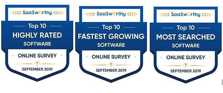 SmartSurvey Gains Triple-Award with Top SaaS Business Review Specialist