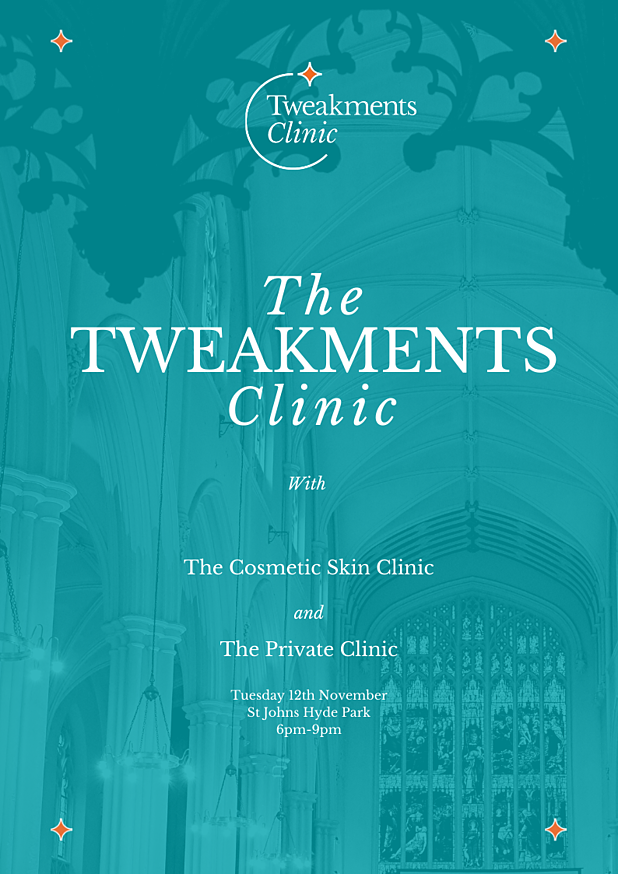 Tweakments Clinic Event Flyer
