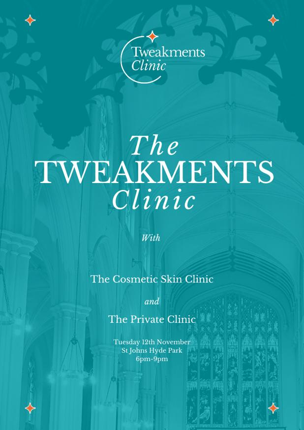 Tweakments Clinic Event Flyer