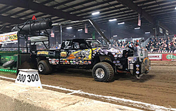 Indiana Indoor Pulling The NTPA Winter Nationals took place over the weekend at the C Bar C Expo Center in Cloverdale, Indiana. The facility boasts the largest indoor pulling track in the world at 320 feet in length, along with 50,000 square