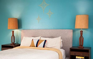 mid-century-modern-blue-bedroom