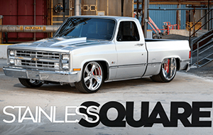 700-Ponies Spinning a Set of 24×15-inch Intro Gallup Billet Wheels! Does It Get Any Better Than That? Undoubtedly the hottest body styles to build today are square-body trucks