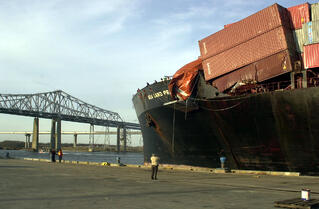 Damaged Cargo Ship Containers