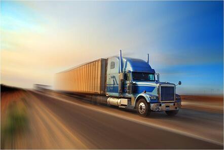 Clean Speeding Truck