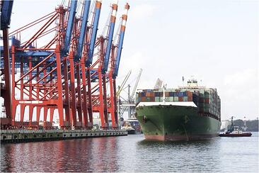 Freight Ship at Dock