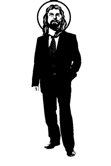 Jesus in Suit