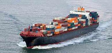 ocean cargo container ship