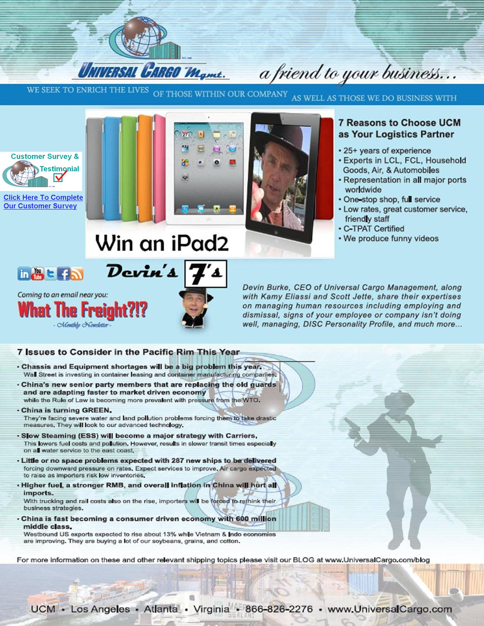 UCM's Win an iPad2 Contest Extended!!!