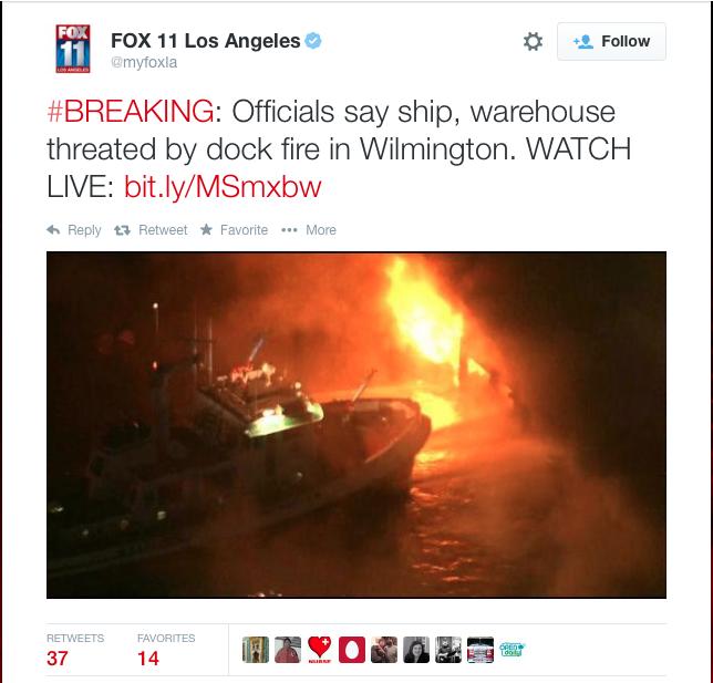 Port of L.A. Fire