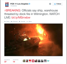 Port of L.A. Fire