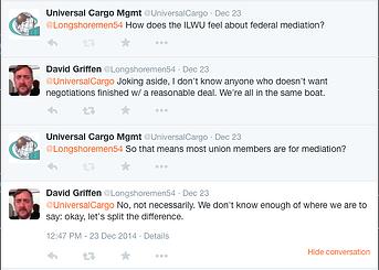 ILWU federal mediation twitter conversation