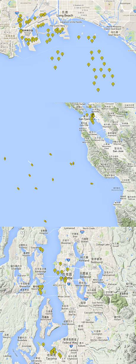 USWC Ports Current Status   Los Angeles, Long Beach, Oakland, Seattle, Tacoma