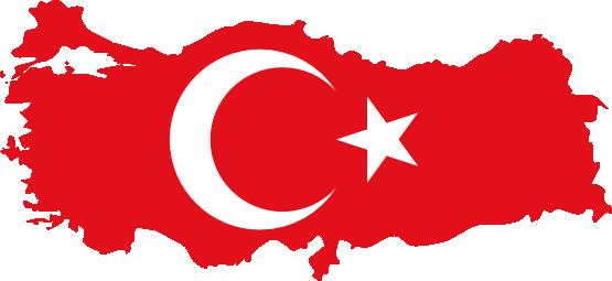 Turkey Map Flag
