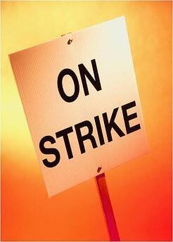 Port Truckers Strike Los Angeles Long Beach
