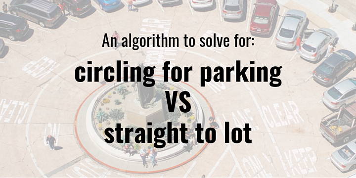 Parking algorithm designed to influence the demand for on-street parking