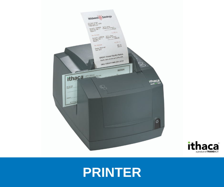 Ithaca BANKjet 1500 Brochure