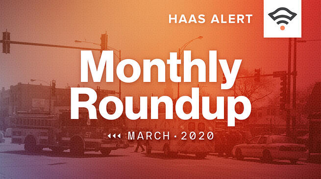 Monthly Roundup, March 2020