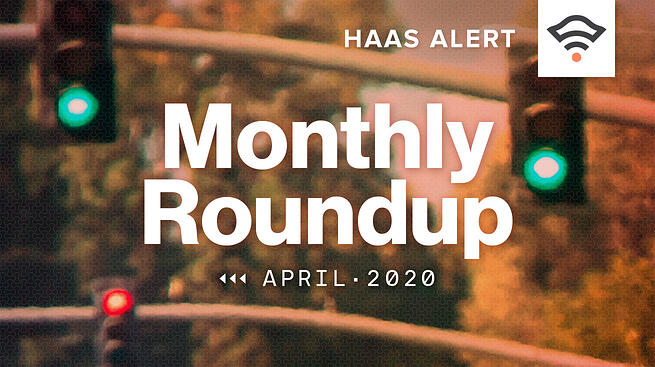 Monthly Roundup, April 2020