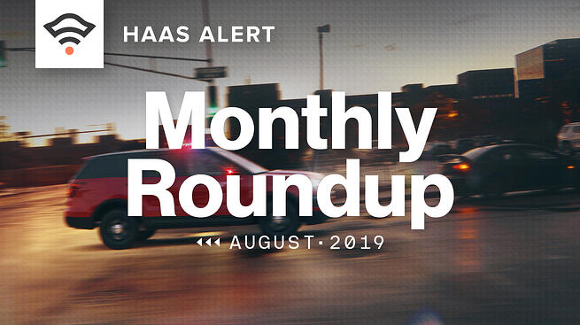 Monthly Roundup, August 2019