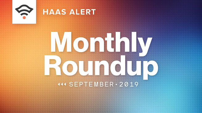 Monthly Roundup, September 2019