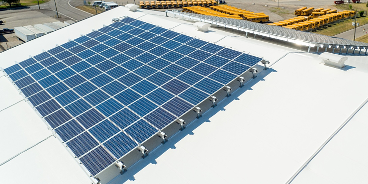 Legacy Building Solutions' Rigid Steel Frame Enables Roof-Mounted Solar Panels