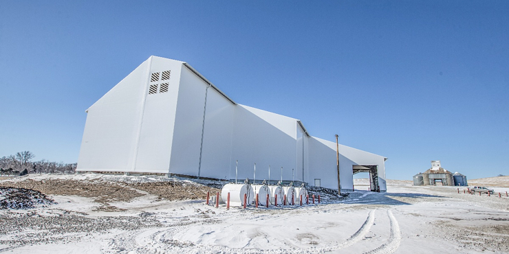 Tension Fabric Building - Rigid Steel Frame - Agriland Woodbine