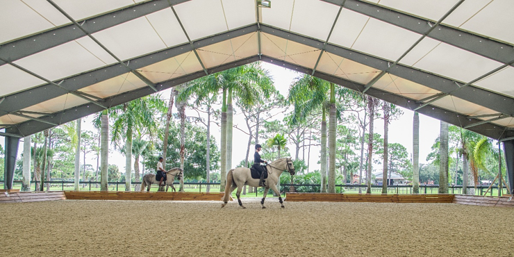 Tension Fabric Riding Arena - Legacy Building Solutions