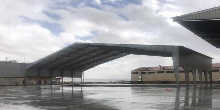 Tension Fabric Airplane Hangar - Legacy Building Solutions