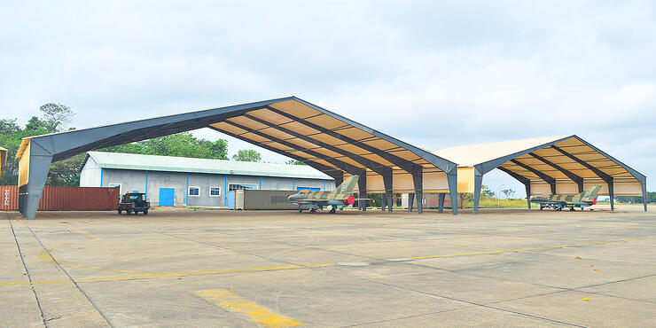 Military Aviation Tension Fabric Hangars and Building