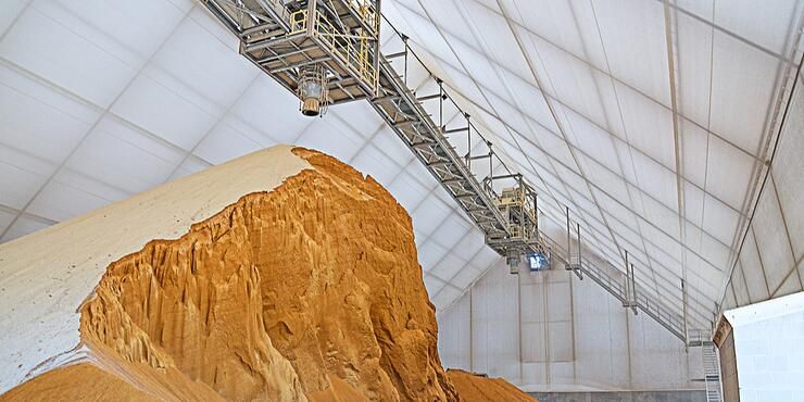 Frac Sand Storage - Tension Fabric Buildings - Corrosion Resistant - Bulk Commodity Storage