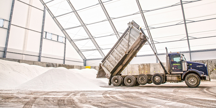 Salt Storage - Fabric Building - Rigid Steel Frame - Commodity Storage - Corrosion Protection