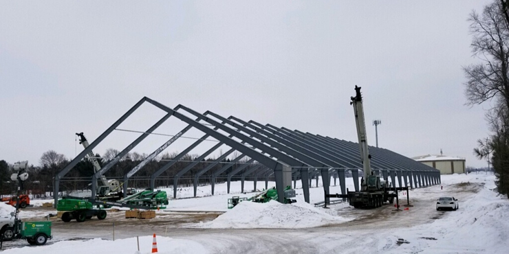 Natural Disaster Resistant Construction - Tension Fabric Building - Rigid Steel Frame