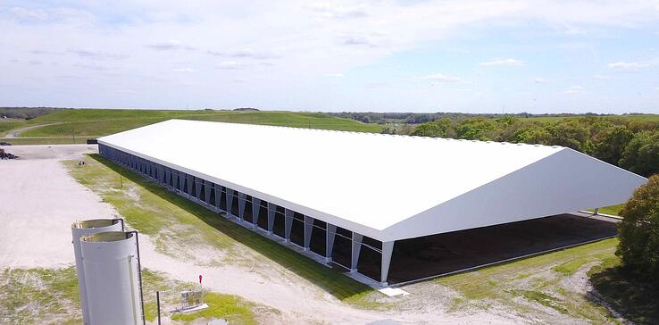 Tension Fabric Structure used in biosolid composting