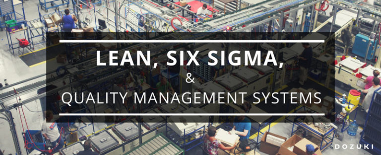 Lean, Six Sigma, and Quality Management Systems