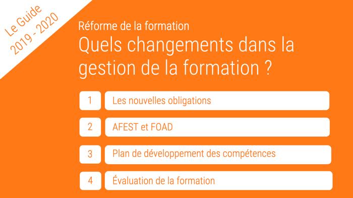 Réforme de la formation : quels changements dans la gestion de la formation ?