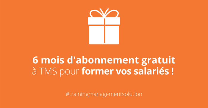 6 mois d'abonnement gratuit à TMS - Training Management Solution