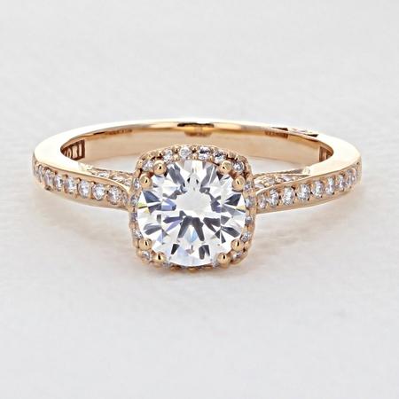 Tacori Dantela Rose Gold Engagement Ring