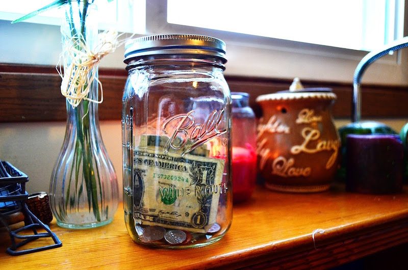 engagement ring savings jar