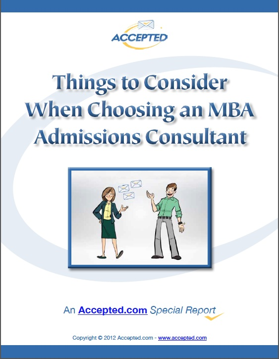Choosing an MBA Admissions Consultant