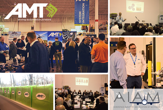 AMT AIAM aerospace industry event collage