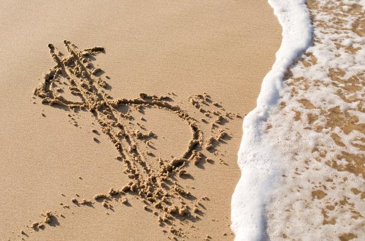 Dollar Sign Sand