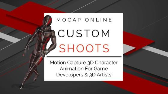 MOCAP ONLINE SHOOTS BETA - Custom 3D Motion Capture Animation for Game Development and CG Production Blog Header
